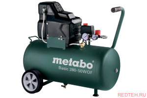 Компрессор Metabo Basic 280-50 W OF  б/м,1.7кВт,50л