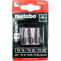 Набор бит Torx (3 шт; TX 15/20/25; torsion) METABO 628539000